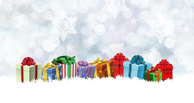 dárky na sněhu