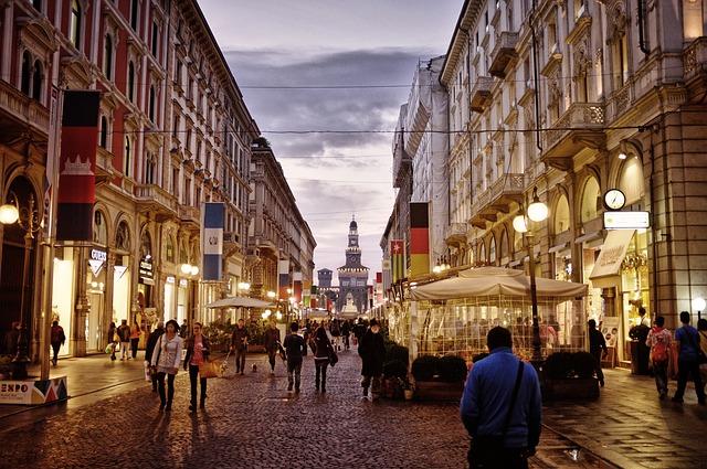 ulice Milána
